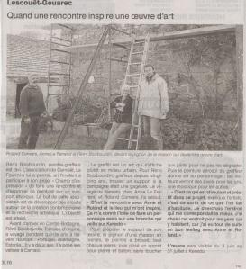 Ouest-France, le 25 mai 13