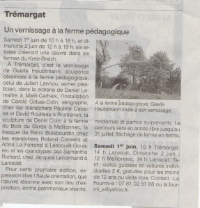 Ouest-France le 31 mai 13