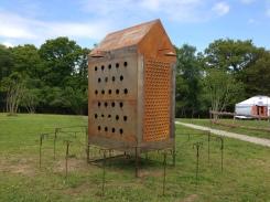 Sculpture de Denis Colin à La Ferme du Bois du Barde à Mellionnec