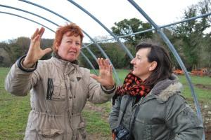 Valérie Videau et Cécile Borne à La Ferme de Lisa