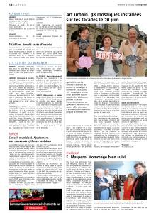 Le Télégramme dimanche 14 juin 2015