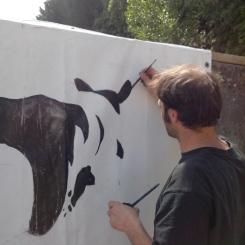 Peinture sur bâche